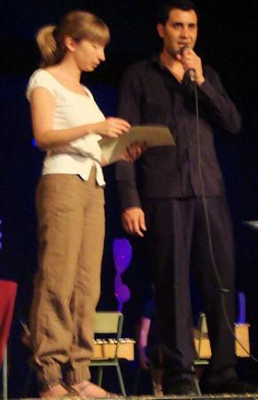 María del Mar Pérez y Juan Antonio Aibar, profesores de la Escuela Municipal de Música