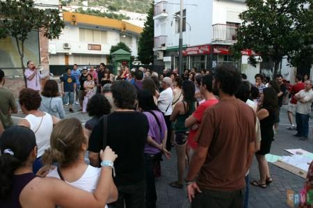 Concentración en la avenida de España.