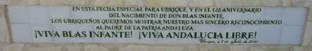 Placa conmemorativa de la adhesión de Ubrique al proyecto de Estatuto de Andalucía