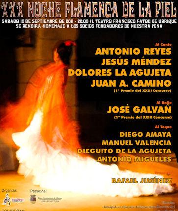 Cartel de la XXX Noche Flamenca de la Piel.