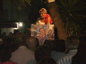 Ana María Venegas Bazán, durante su pregón (Foto: www.ayuntamientoubrique.es).