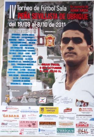 Cartel del IV Torneo de Fútbol Sala de la Peña Sevillista.