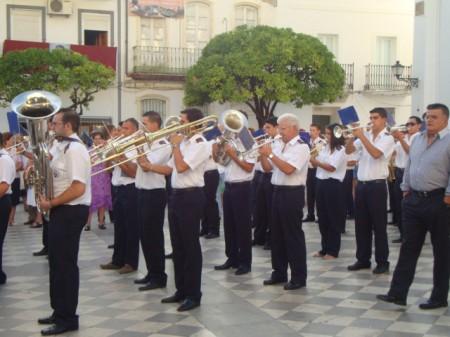Acompañamiento musical de la procesión.