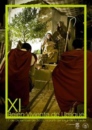 Cartel anunciador del XI Belen Viviente de la Plaza de la Verdura y Casco Antiguo.