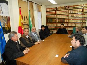 Reunión en el Ayuntamientod de Ubrique.