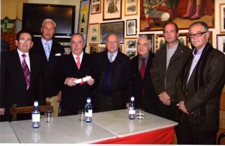 Varios de los fundadores de la Peña Taurina.