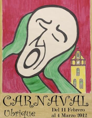 Cartel del Carnaval de Ubrique de 2012, obra de Agüera.