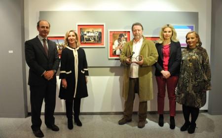 Manuel Vilches, en el acto de entrega de premios.