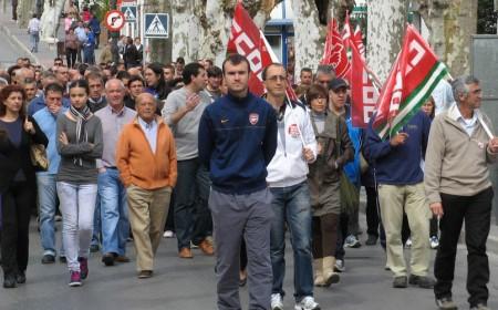Manifestantes por Los Callejones.