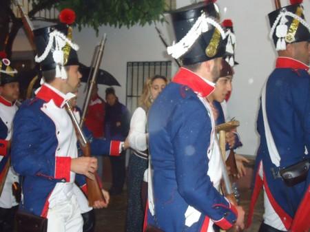 Recreantes de la Asociación Histórico Cultural Villa de El Bosque, en Ubrique el 5 de mayo de 2012 (Foto: M. G. A.).