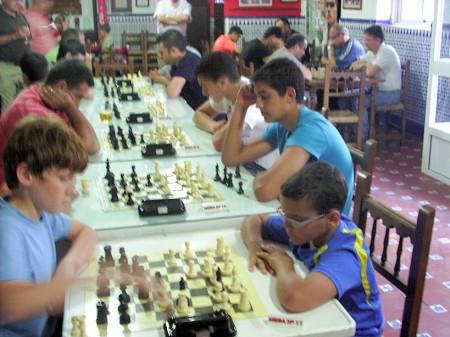 Participantes en el Torneo de Primavera de Ajedrez.