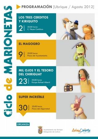 Cartel anunciador del ciclo de marionetas.