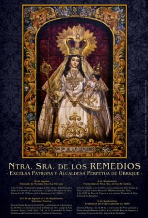 Cartel de los cultos a la Patrona.