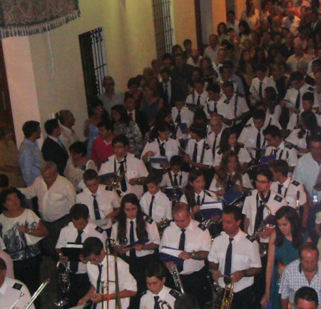 La Banda Municipal de Música, en la procesión del día 8.