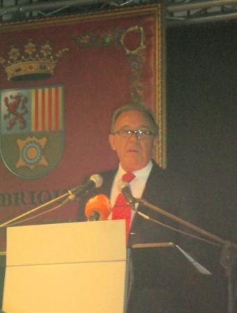 Rafael Vega, durante el pregón de Feria.