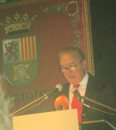 Rafael Vega, durante la lectura del pregón.