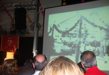 Una de las imágenes proyectadas durante el pregón.