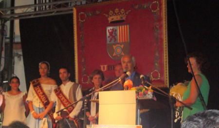 El alcalde, Manuel Toro, inaugura oficialmente la Feria.