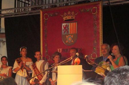 Paqui Viruez despide el acto de inauguración de la Feria.