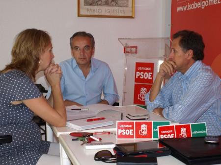 Isabel Gómez, Alfonso Moscoso y José María Román.
