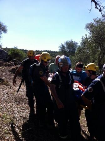 Rescate del senderista accidentado en Picacho.