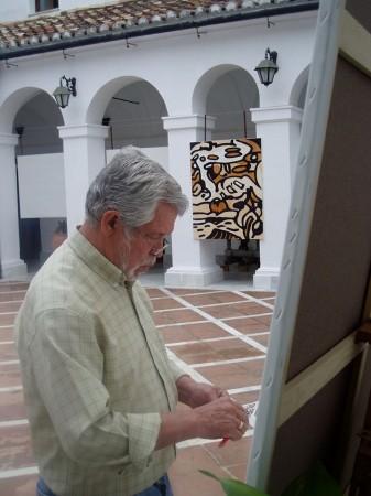Agüera, en el claustro del Convento (Foto: Paco Solano).