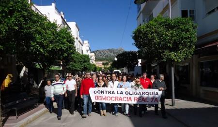 Cabecera de la manifestación, por la avenida de España.