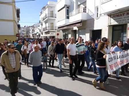 Los manifestantes, por el Paseo del Prado.