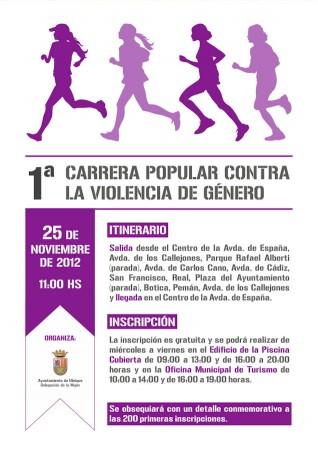 Cartel de la I Carrera Popular contra la Violencia de Género.