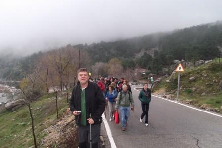 Participantes en la travesía solidaria.