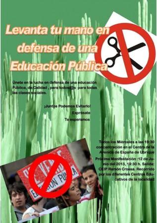 Cartel anunciador de la manifestación.