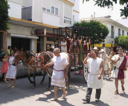 "Desfile de la ""Cohors Praetoria Ocuritanorvm""."