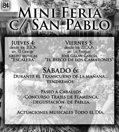 Cartel anunciador de la Mini Feria.