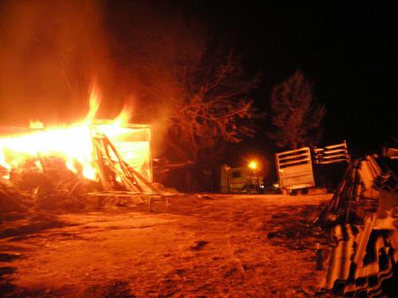 Incendio declarado en el pajar.