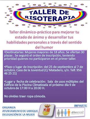 Cartel del Taller de Risoterapia.