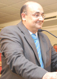 Javier Cabezas, en un acto de 2011.