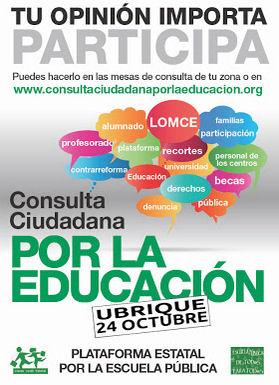 Cartel anunciador de la consulta.
