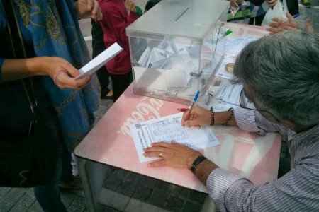 Votación celebrada en Ubrique.