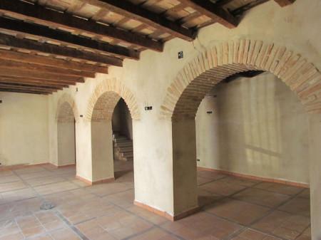 Interior de la Casa de la Memoria, en obras de rehabilitación.