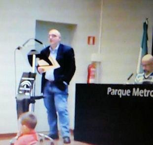 Juan Mateos García, durante su intervención.