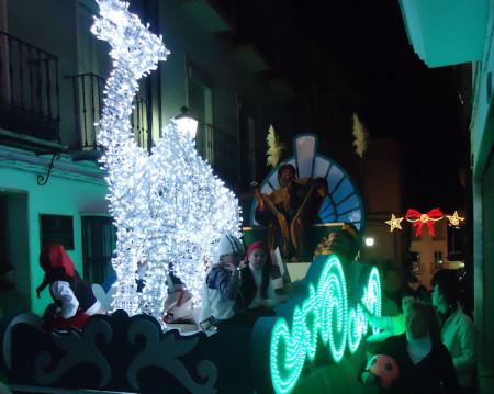 Carroza de Baltasar, a punto de llegar a La Plaza.