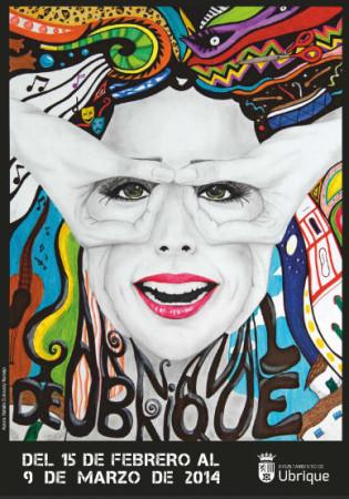 Cartel del Carnaval de 2014, obra de Natalia Dubovsky Naranjo.