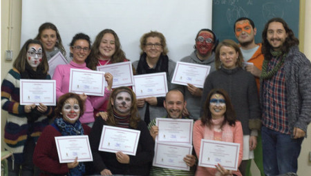 Participantes en el curso, junto a la concejal Remedios González.