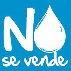 Logotipo alusivo a la campaña contra la privatización del agua.