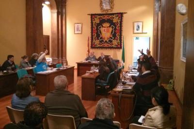 Votación en el pleno (Foto:  http://www.iu-ubrique.org).