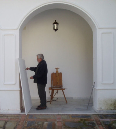 Agüera, pitando en el Convento (Foto: Paco Solano).
