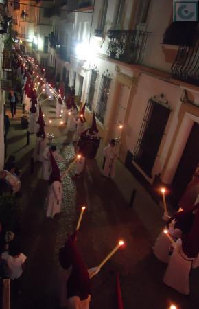 Penitentes de la Agrupación Parroquial del Cautivo.