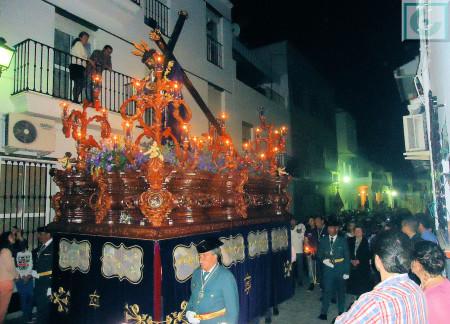 La procesión del Nazareno, por la calle Jesús.