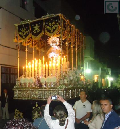El paso de la Virgen de la Estrella, por la calle Jesús.
