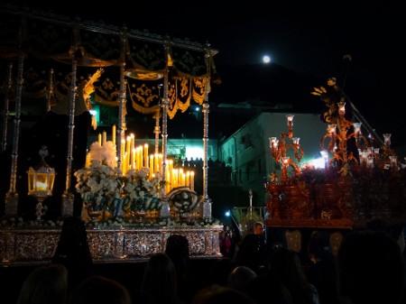 Encuentro entre el Nazareno y la Virgen en El Jardín (foto Ingenia)